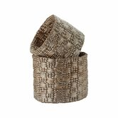 Metallic Water Hyacinth Basket (Set of 2)