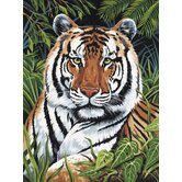 Painting by Numbers Artist Canvas Series Tiger Hiding Set