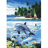 Painting by Numbers Artist Canvas Series Dolphin Island Set