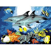 Painting by Numbers Large Dolphins Junior  Set