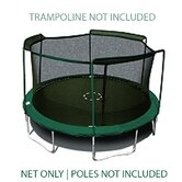 15 Ft. (Frame Size) Trampoline Net for 3 Arch Enclosure with Sleeves (Fits Bounce Pro/Sports Power) (Net Only)