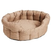 Machine Washable Premium Oval Basket Weave Softee Dog Bed