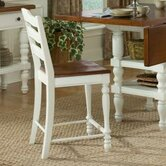 DO NOT SET LIVE!Concord Ladder Back Side Chair in Distressed Burnished White and Cherry