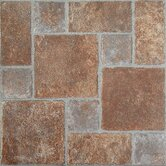 Nexus 12&quot; x 12&quot; Vinyl Tile in Brick Pavers