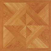Nexus 12&quot; x 12&quot; Vinyl Tile in Light Oak Diamond Parquet