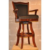 "Swivel Bar Stool - Monticello 30"" Leather in Cherry"