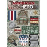 Cardstock Stickers American Hero