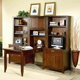Tribeca Loft Cherry Modular L-Shape Desk Office Suite