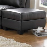 Cube Bonded Leather Stool