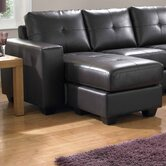 Ruben Bonded Leather Chaise