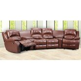 Cinema Bonded Leather Suite Corner Sofa