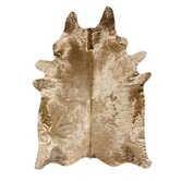 Natural Cowhide Honey Rug