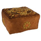 Ultraswade Embroidered Pouf Cube Ottoman