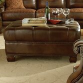 Windsor Court Leather Cocktail Ottoman