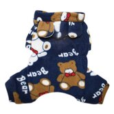 Plush Teddy Bears Fleece Dog Pajamas / Bodysuit with Hood