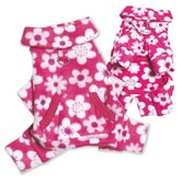Full Blossom Fleece Turtleneck Dog Pajamas / Bodysuit