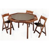 "57"" Maple Contemporary Folding Poker Table Set"