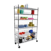 Six Tier NSF Shelving Rack in Chrome