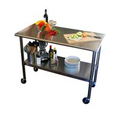 "EcoStorage™ 48"" Stainless Steel Table w/Wheels"