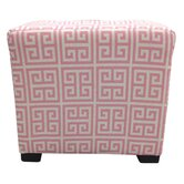 Pinky Chain Cotton Cube Ottoman