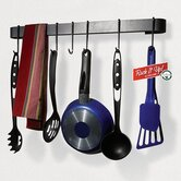RACK IT UP! Wall Mounted Utensil Bar Pot Rack