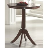 Plainview Bar Height Bistro Table in Brown