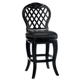Braxton 30&quot; Black Leather Swivel Bar Stool