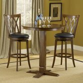 Dynamic Designs Gathering Table with Cherry Finish with Mansfield Swivel Bar Stools