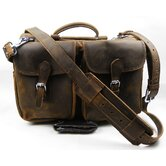 16&quot; Leather Travel Tote