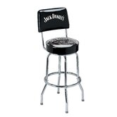 Swivel Label Barstool With Backrest