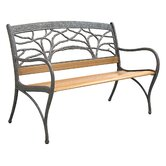 Tree Cast Aluminum Park Bench