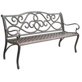 Scroll Cast Aluminum Park Bench
