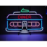 Cars and Motorcycles Diner Car Neon Sign