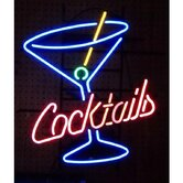 Cocktails and Martini Neon Sign