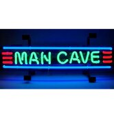 Man Cave Neon Sign in Red,  Green and Blue