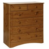 Scandinavian 2 Over 4 Drawer Chest