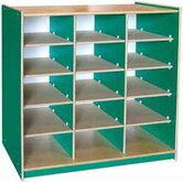 Classroom Color 15 Cube Storage Unit