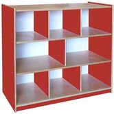 Classroom Color Three Shelf Storage Unit