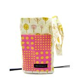 Trees and Plaid Pink Crutch Bag