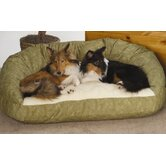 Deluxe Bolster Dog Bed in Microfiber