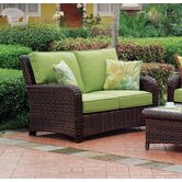 Saint Tropez Wicker Loveseat