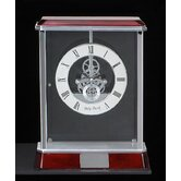 Madrid Skeleton Clock in Silver
