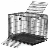 Wabbitat Rabbit Cage in Black Electro Coat