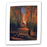 Vincent van Gogh &quot;Avenue of Poplars in Autumn&quot; Canvas Wall Art