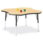 "KYDZ Toddler Height Activity Table- Four-Leaf (48"" Diameter)"