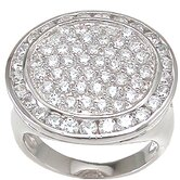 .925 Sterling Silver Round Cut Cubic Zirconia Ring