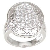 .925 Sterling Silver Brilliant Cut Cubic Zirconia Ring