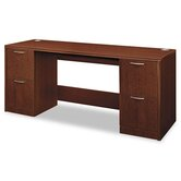 Attune Series Computer Desk with Credenza with Kneespace