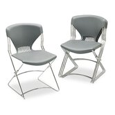 Olson Flex Stacker Chair, Silver Gray, Four/Carton