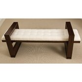 Open Block Wood Bench